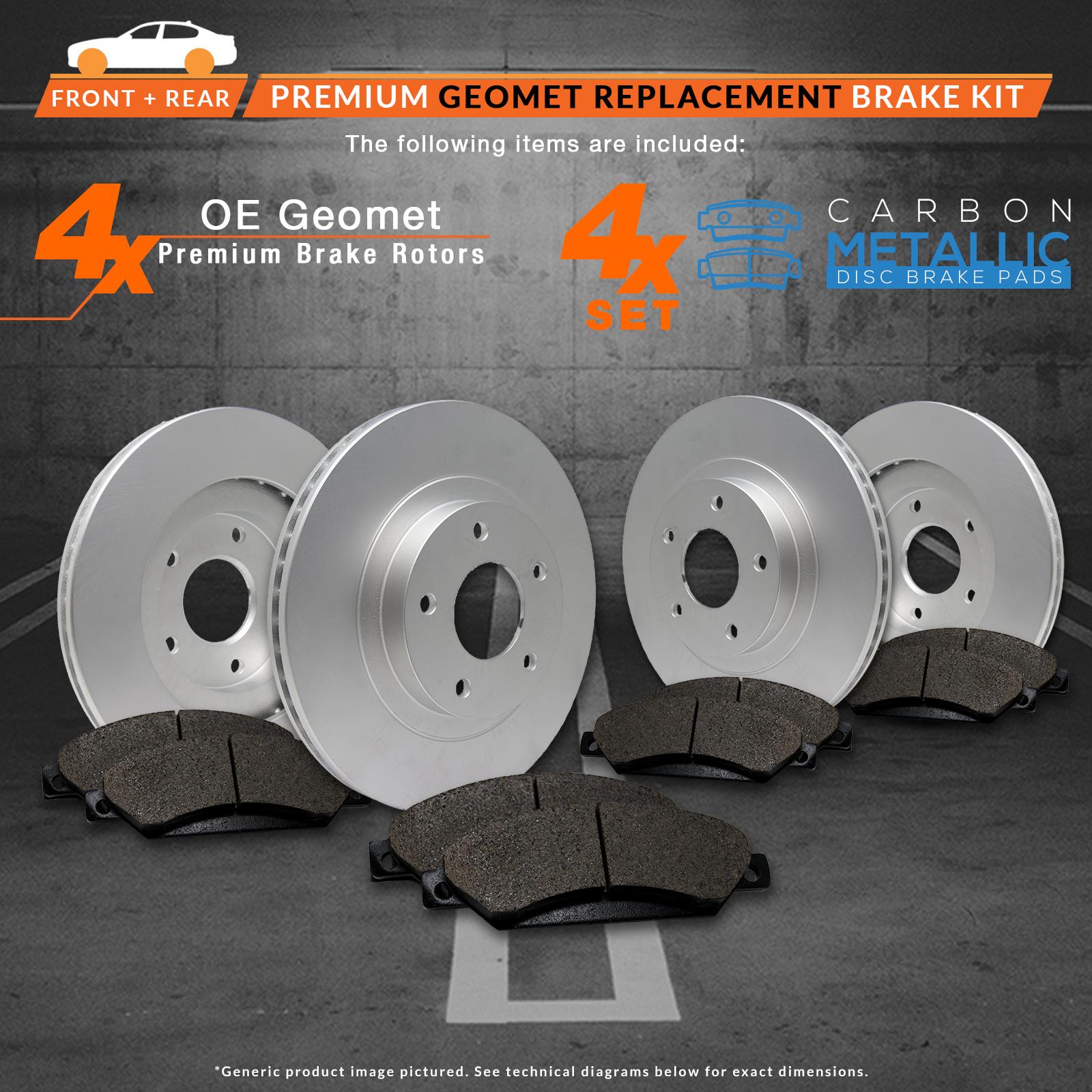 Front-Rear-Rotors-w-Metallic-Pads-Geomet-OE-Brakes-2005-Honda-Accord thumbnail 2