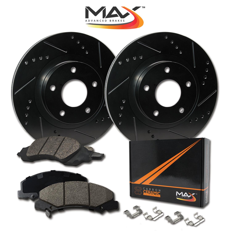 REAR-ELITE-BLACK-Slotted-amp-Drilled-Rotors-with-Ceramic-Pads-amp-Hardware-Kit