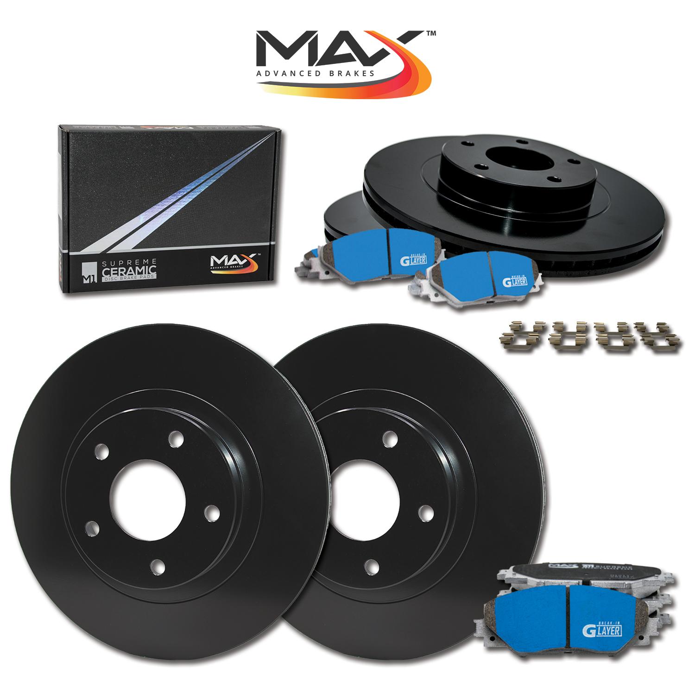 2005-2006-2007-2008-Fits-Nissan-Maxima-Black-OE-Rotors-M1-Ceramic-Pads-F-R