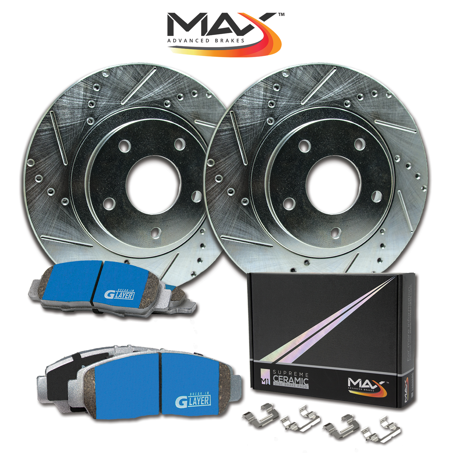 |Front Rotors w//Ceramic Pads OE Brakes 2005 06 07 08 09 2010 Odyssey
