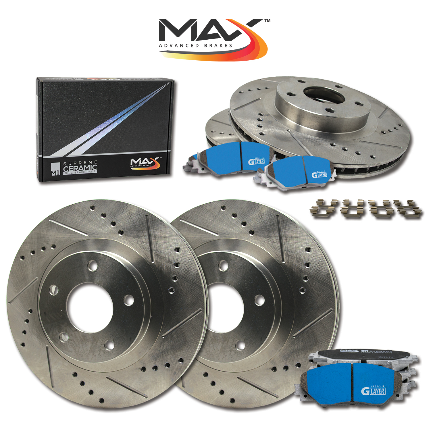 F-R-Rotors-w-M1-Ceramic-Pads-Premium-Brakes-GS300-GS400-IS300