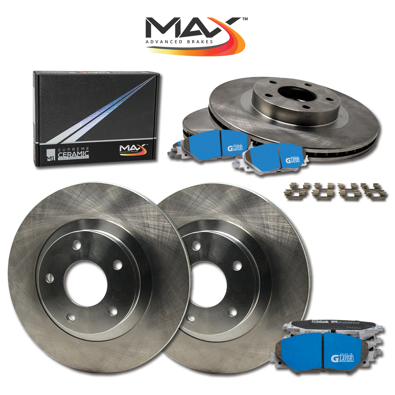 F-R-Rotors-w-M1-Ceramic-Pads-OE-Brakes-06-11-SLK350-05-07-C230