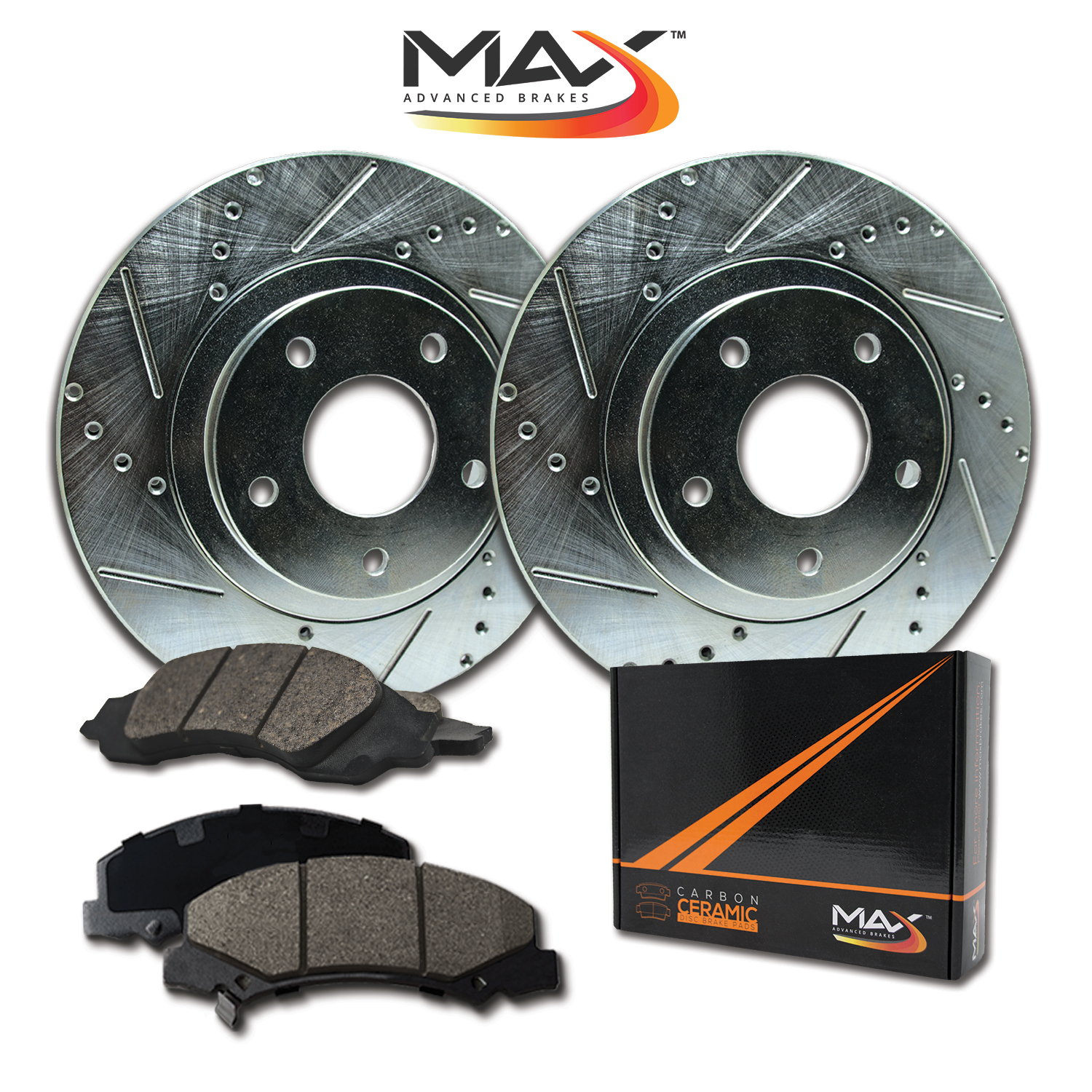 2003 2004 Fit Chrysler Concorde OE Replacement Rotors w//Ceramic Pads R