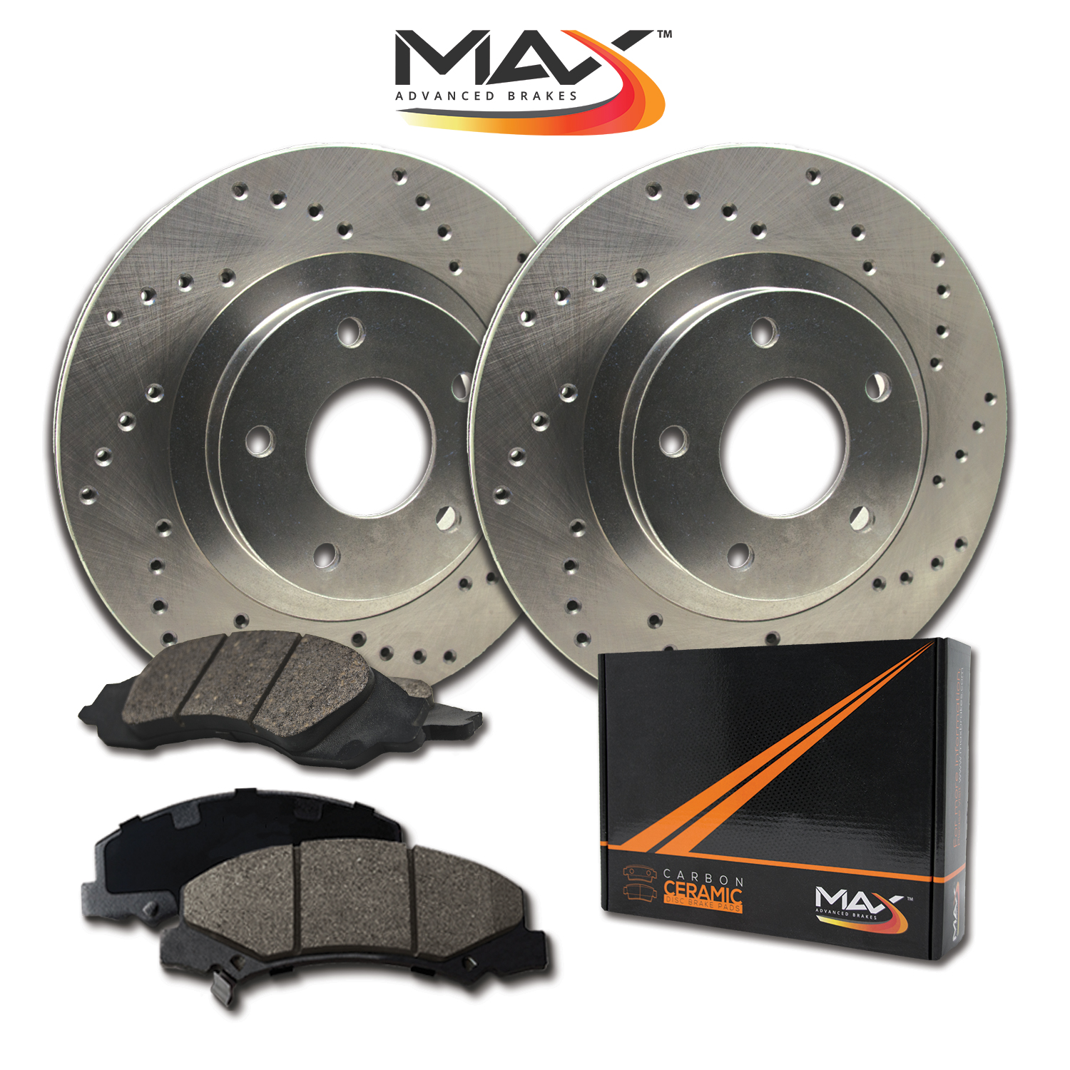 2008-Volvo-XC70-See-Desc-Cross-Drilled-Rotors-w-Ceramic-Pads-F