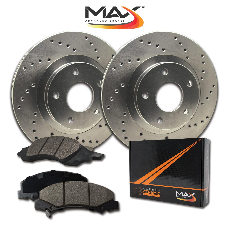 2004-2005-2006-2007-2008-Chevy-Malibu-Cross-Drilled-Rotors-w-Ceramic-Pads-R