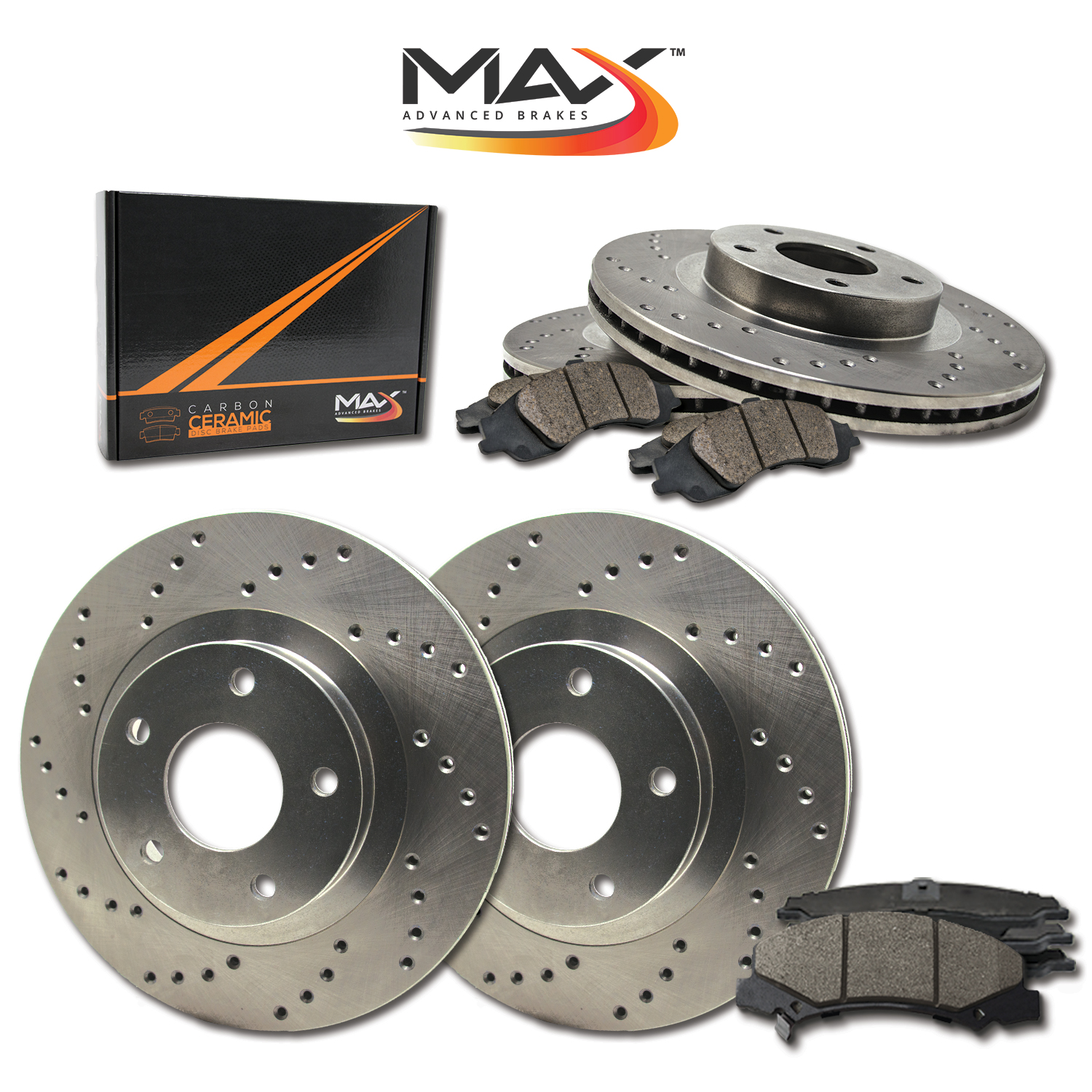 2011-2012-2013-Volvo-S60-See-Desc-Cross-Drilled-Rotors-w-Ceramic-Pads-F-R