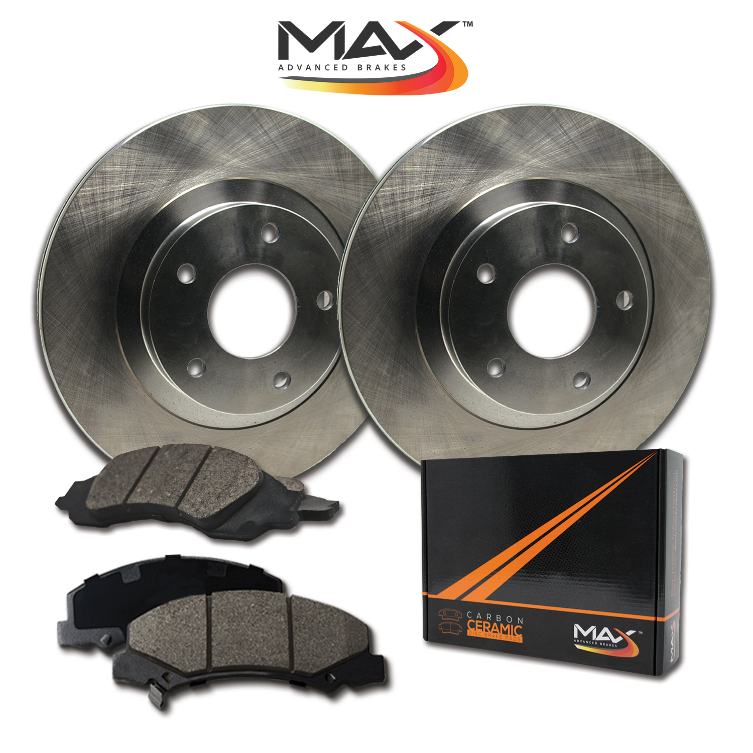 Rear-Rotors-w-Ceramic-Pads-OE-Brakes-2012-2017-Grand-Caravan-Journey