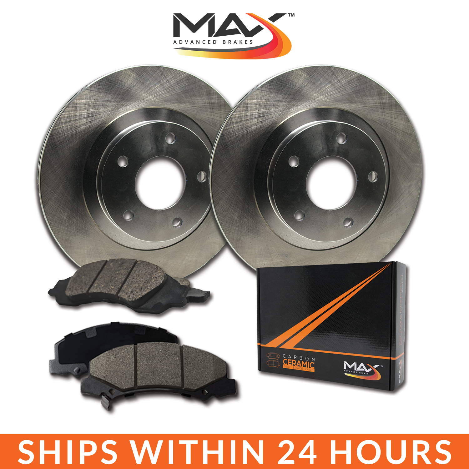 2013 2014 2015 Ford Taurus Non SHO OE Replacement Rotors w/Ceramic Pads R