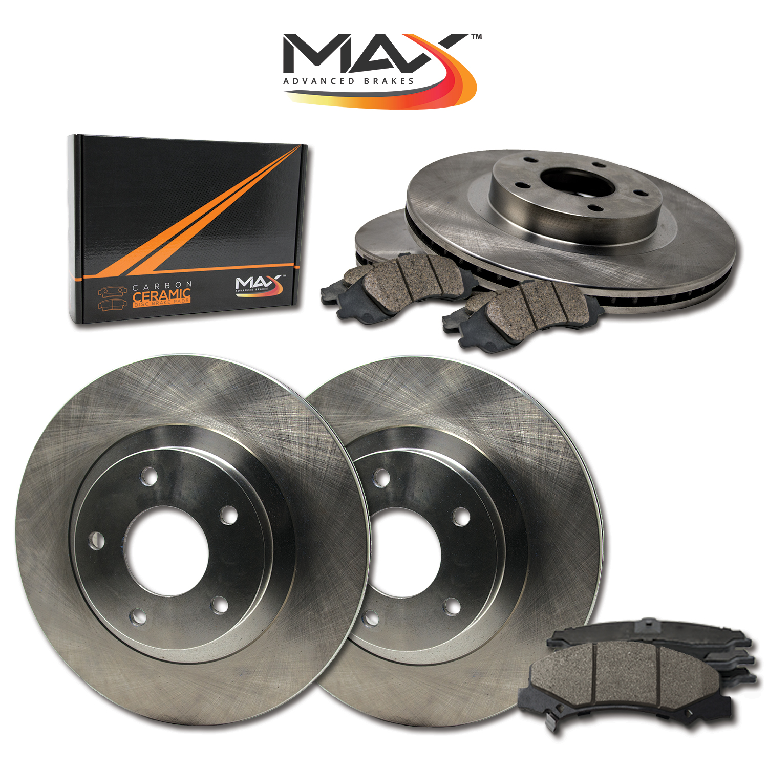 Max Brakes Rear Carbon Ceramic Performance Disc Brake Pads KT016952 Fits 2003 03 Subaru Impreza w//Rear Disc Brakes
