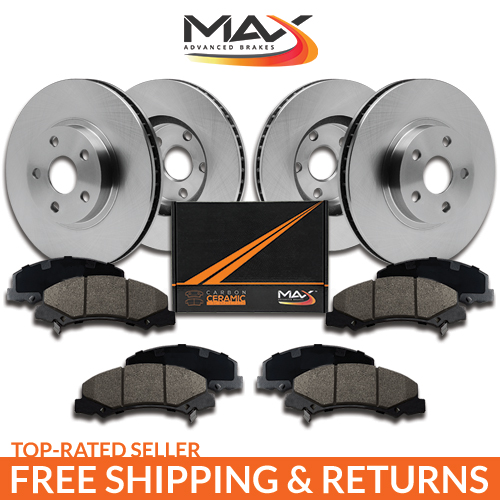 Front-Rear-Rotors-w-Ceramic-Pads-OE-Brakes-Caravan-Journey-Town-Country