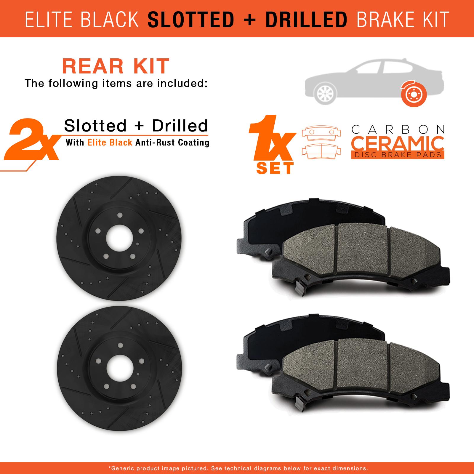 2001 Fits Hyundai Xg300 Black Slot Drill Rotor W Ceramic Pads R Ebay Wiring Diagram
