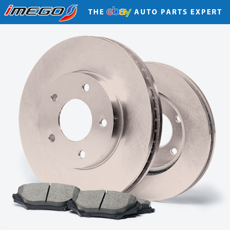 Rotors w//Ceramic Pads OE Brakes 2012-2016 Town /& Country Front + Rear