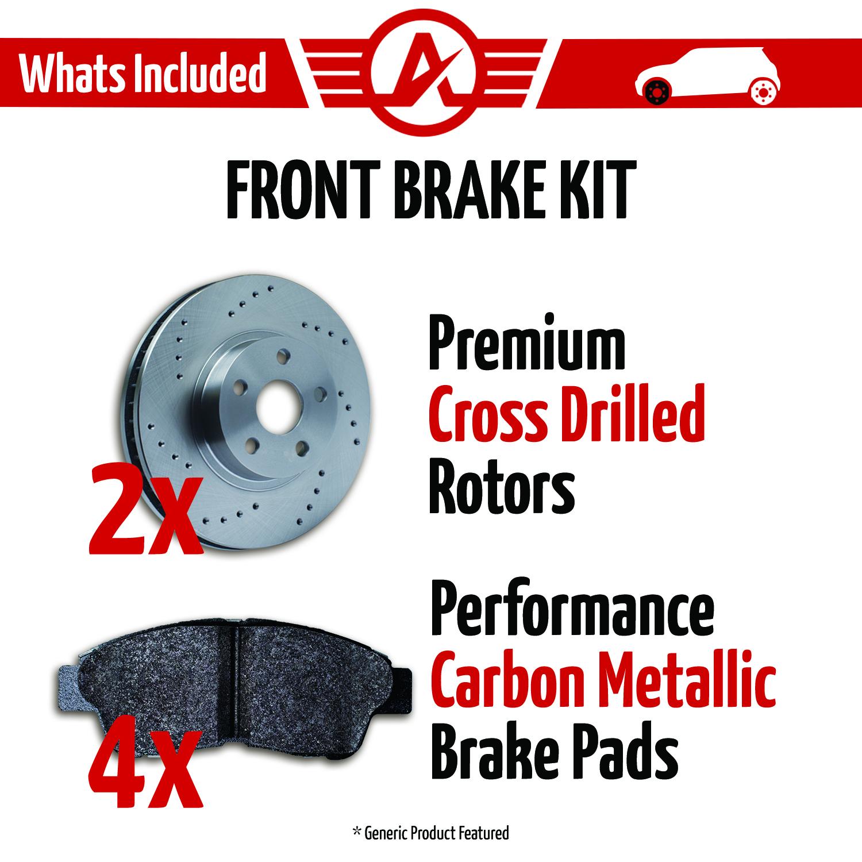 Front-Rotors-w-Metallic-Pad-Drilled-Brakes-2001-2005-325i-325xi-325Ci