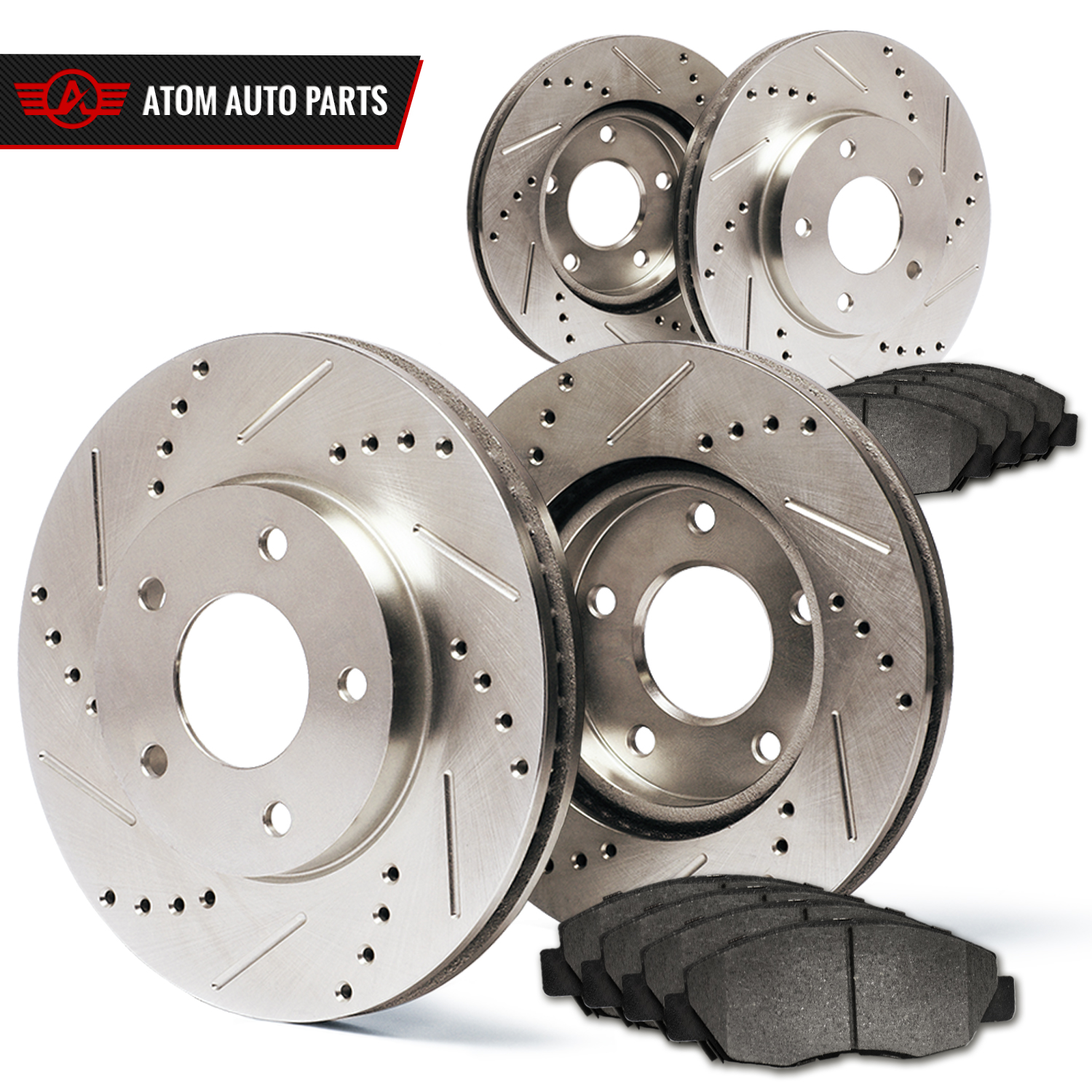 2003-2004-2005-Acura-TSX-Slotted-Drilled-Rotors-Metallic-Pads-F-R