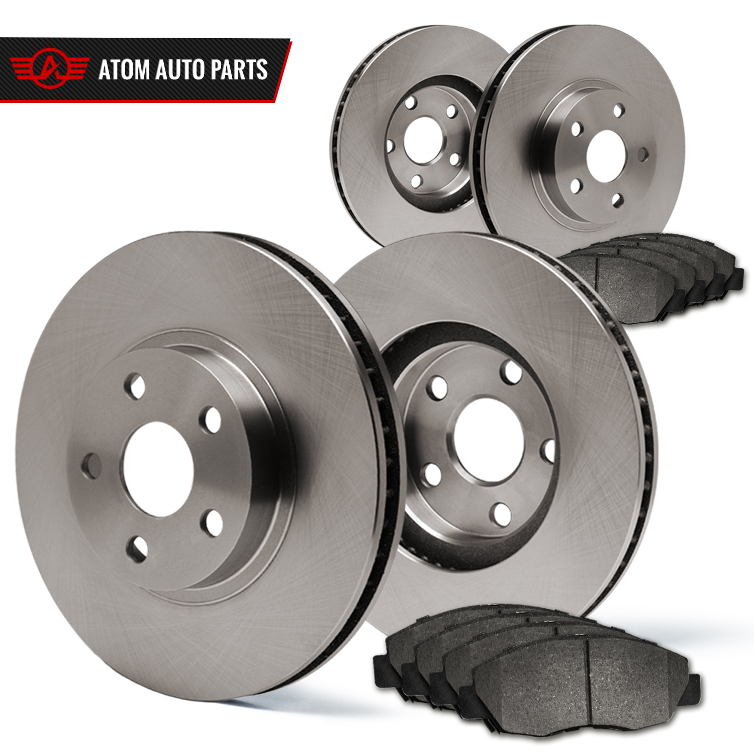Front-Rear-Rotors-w-Metallic-Pad-OE-Brakes-07-09-Fit-Dodge-Sprinter-2500