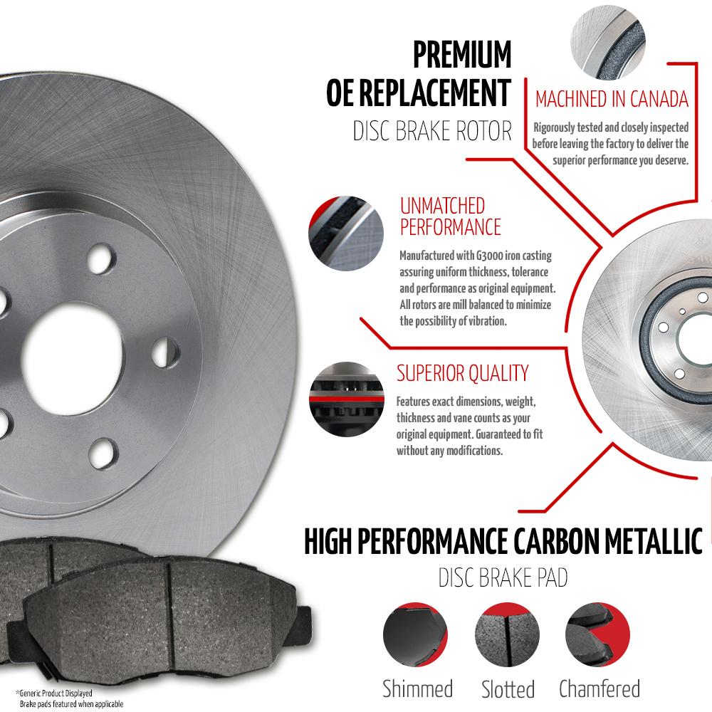 Front-Rear-Rotors-w-Metallic-Pad-OE-Brakes-Fits-2007-2008-2009-Santa-Fe