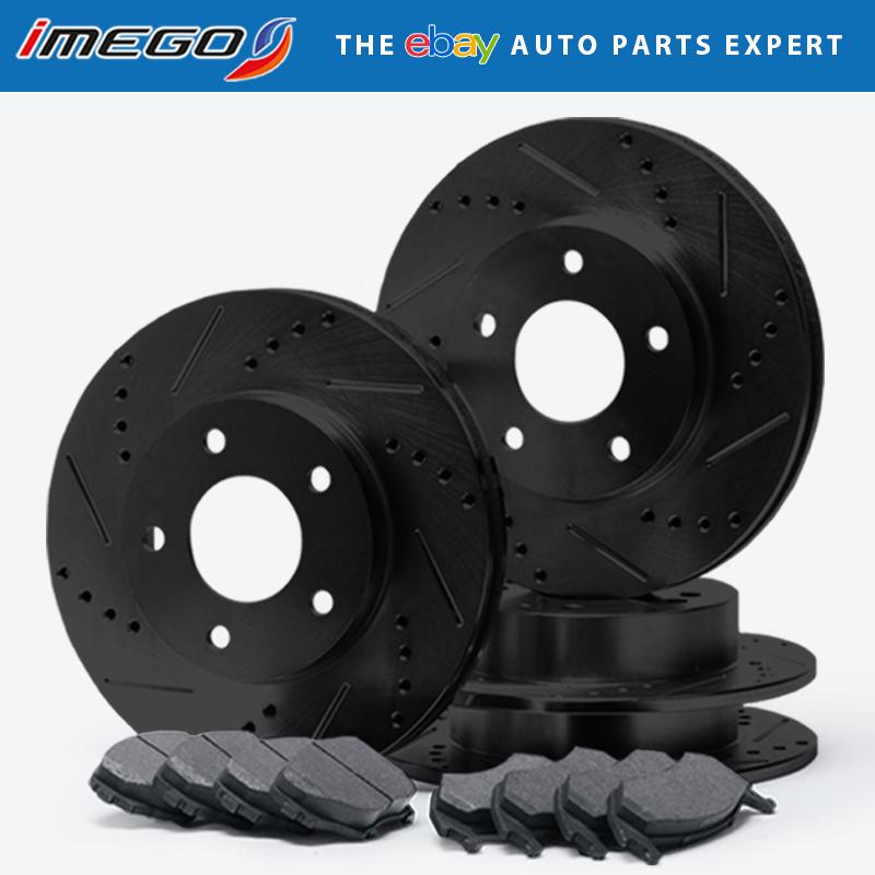 00-04 Impala Monte Carlo Rotors w//Metallic Pad Elite Brakes Front + Rear