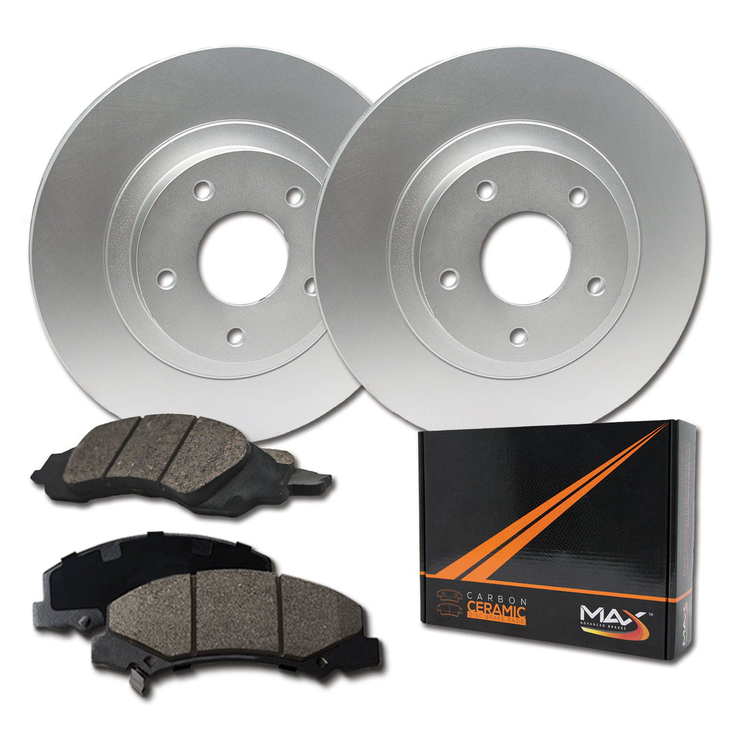 2000 For Chevrolet C2500 C3500 Front Disc Brake Rotors and Ceramic Pads w//8Lugs