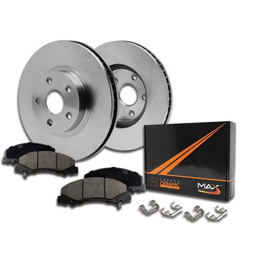 Rotors Ceramic Pads F 99 Fit Jeep TJ w//1-1//8 Wheel Stud Length OE Replacement