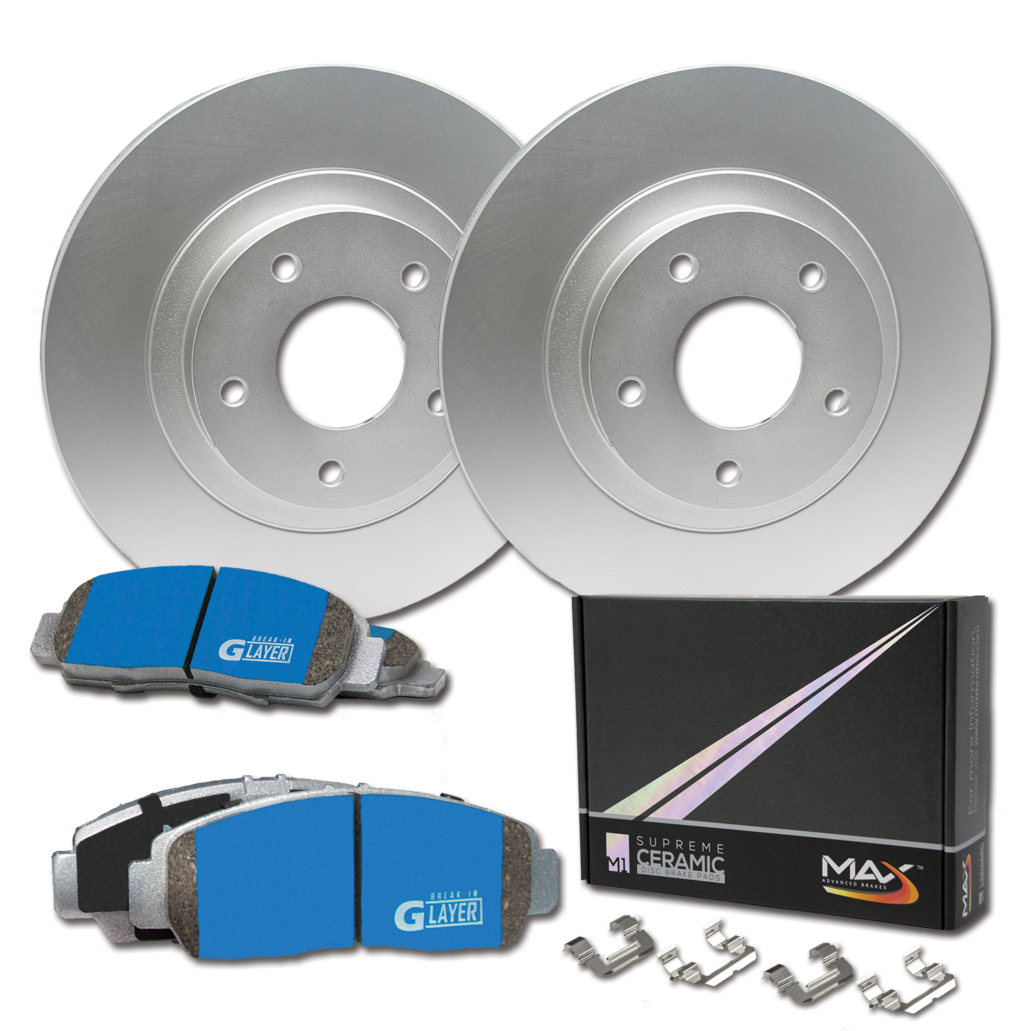 Rear 2004 2005 2006 Chevy Optra Rotors w//Ceramic Pads OE Brakes