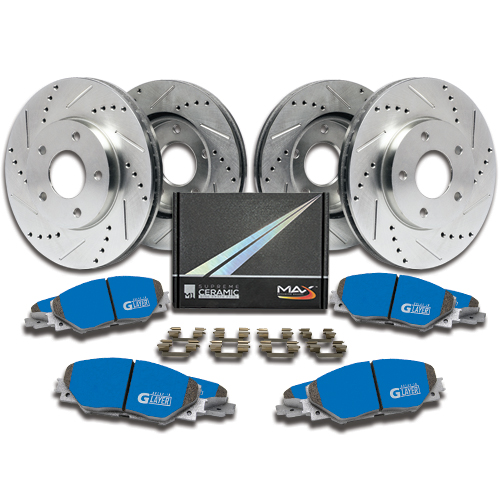 DIMPLED SLOTTED REAR DISC BRAKE ROTORS for Honda Civic TYPE R FN FR2 2007-12