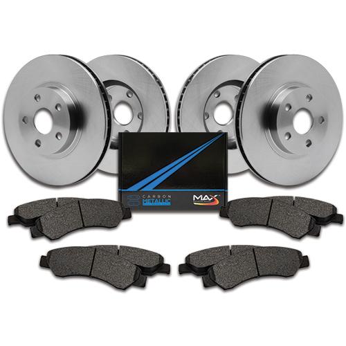 OE Series Rotors + Ceramic Pads KM076742 Max Brakes Rear Supreme Brake Kit Fits: 2005 05 2006 06 2007 07 Buick Lacrosse