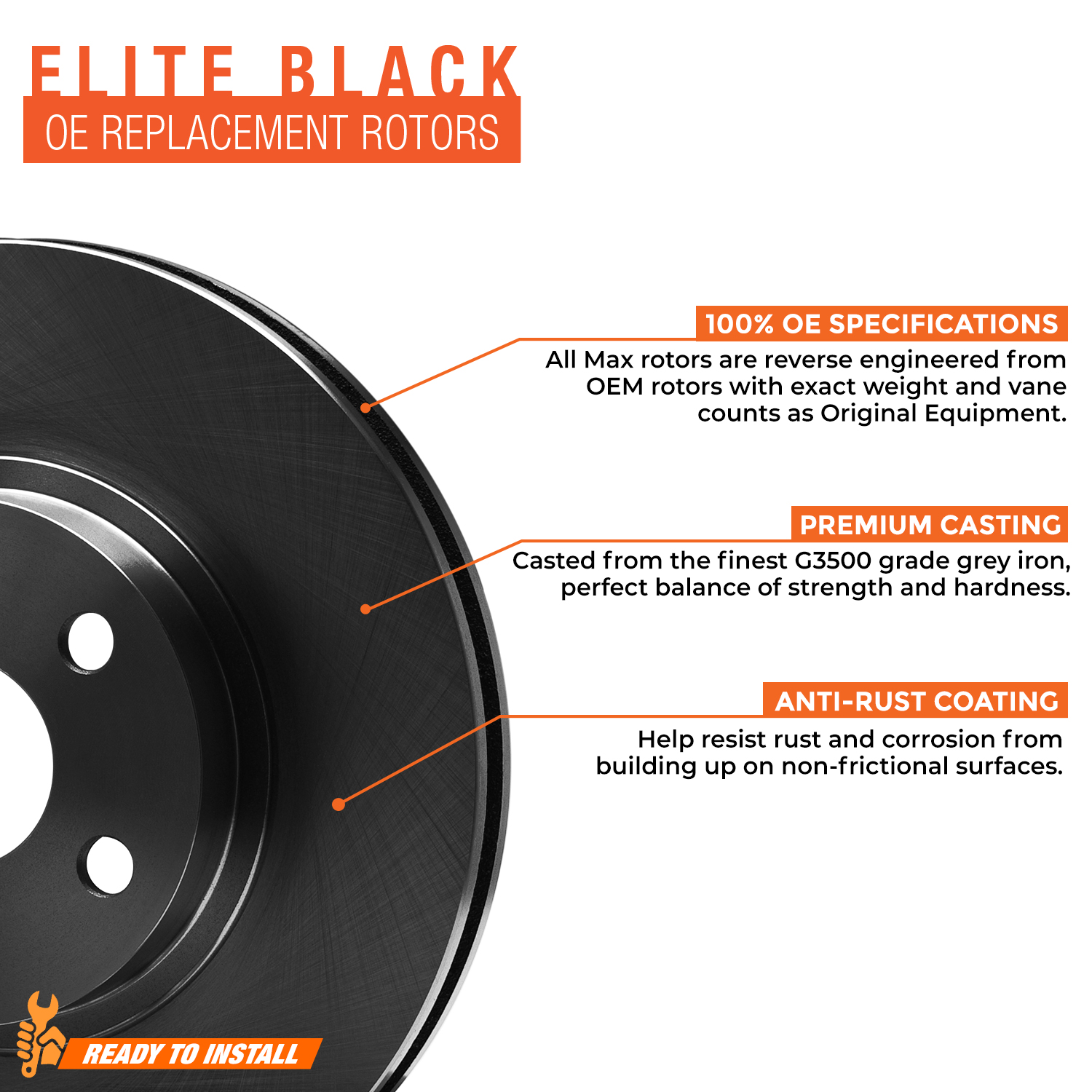 Rear-Rotors-w-Ceramic-Pads-Elite-OE-Brakes-2002-2005-Explorer-Mountaineer thumbnail 3