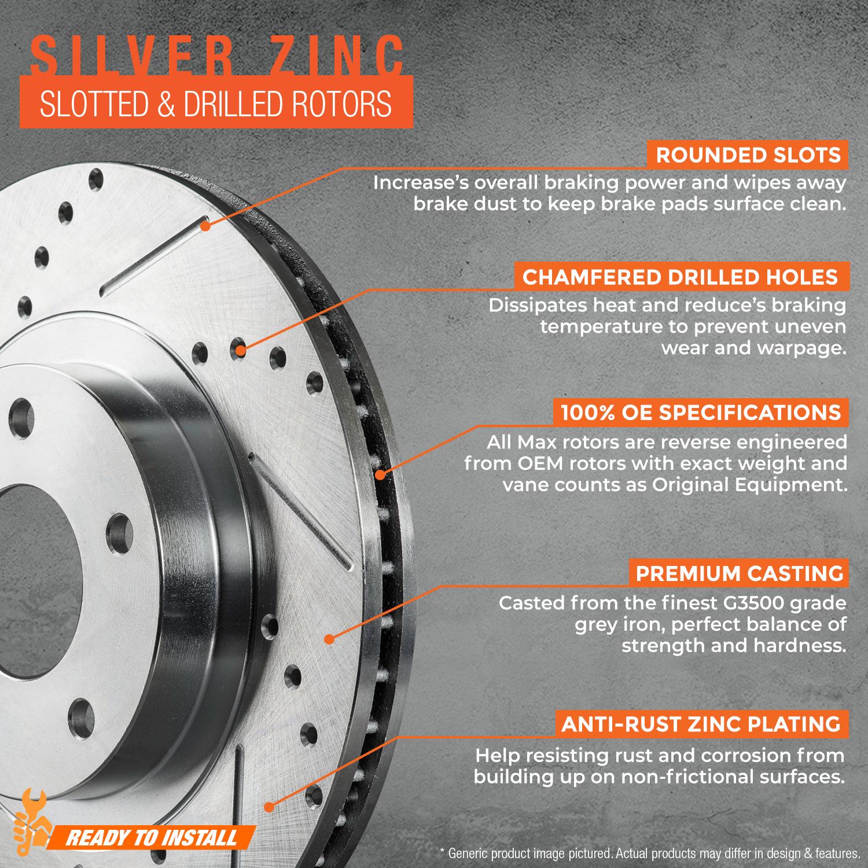 2011-2012-Honda-Fit-Silver-Slot-Drill-Rotor-Metallic-Pads-F