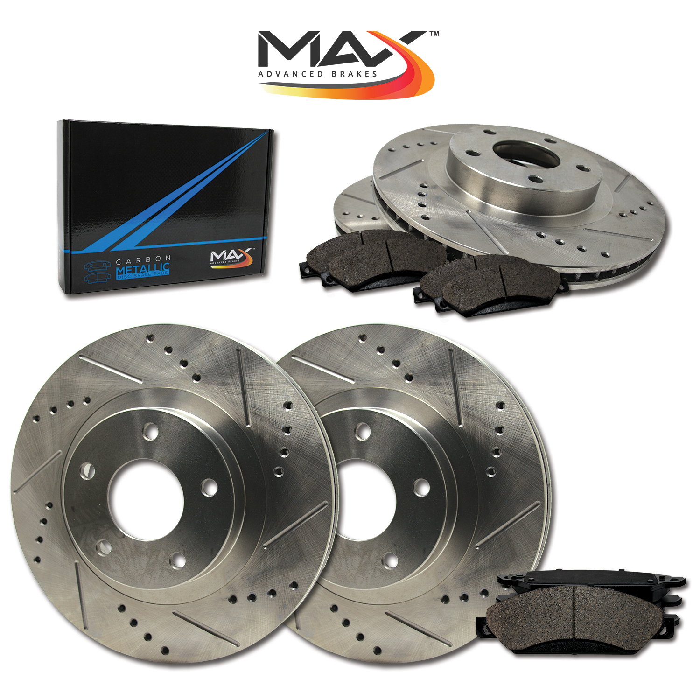 Front-Rear-Rotors-w-Metallic-Pad-Premium-Brakes-2005-08-Allure-Grand-Prix