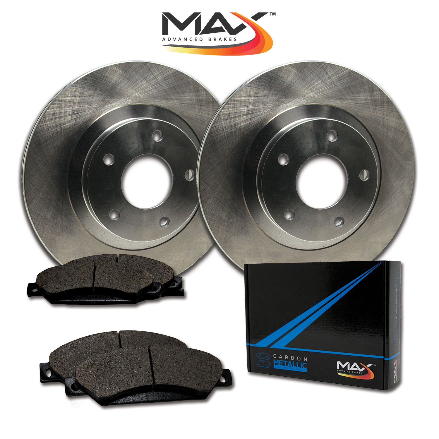 2013 2014 2015 Ford Taurus Non SHO OE Replacement Rotors w/Metallic Pads R
