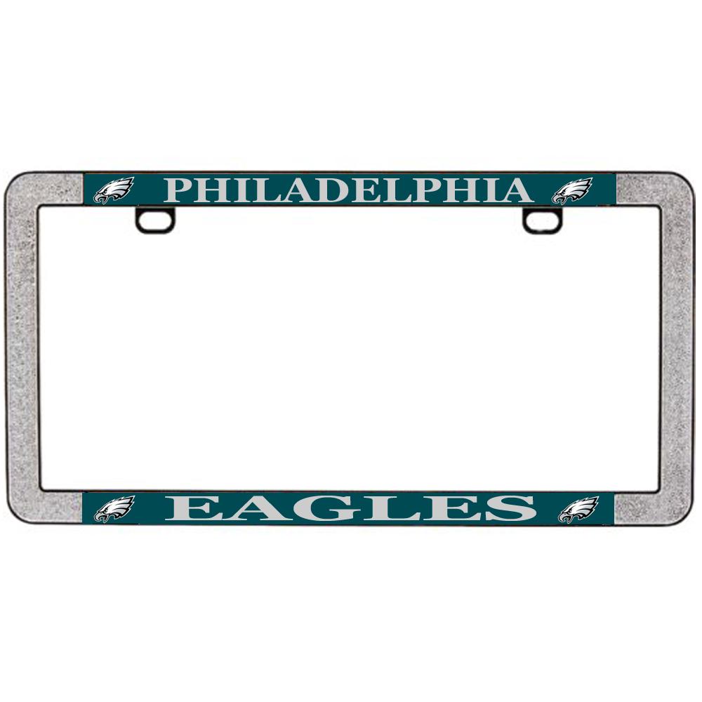 license plate frame metal car thin rim nfl philadelphia 614934640968 jeuxipadfo gallery - Mermaid License Plate Frame