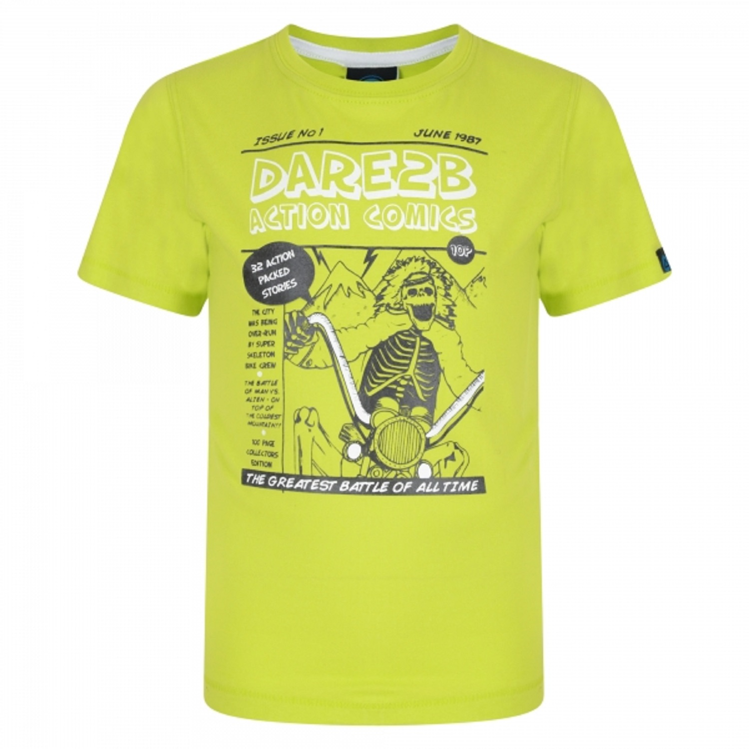 Dare2b-Cross-Bones-Kids-Quick-Wicking-Fabric-T-Shirt-Green-Size-34-034