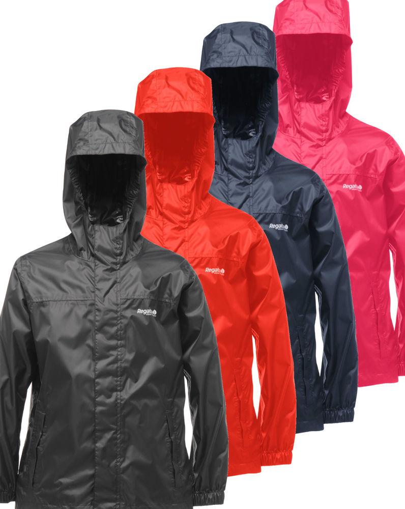 Regatta Pack It Kids Boys Girls Lightweight Packaway Waterproof Jacket RRP £25