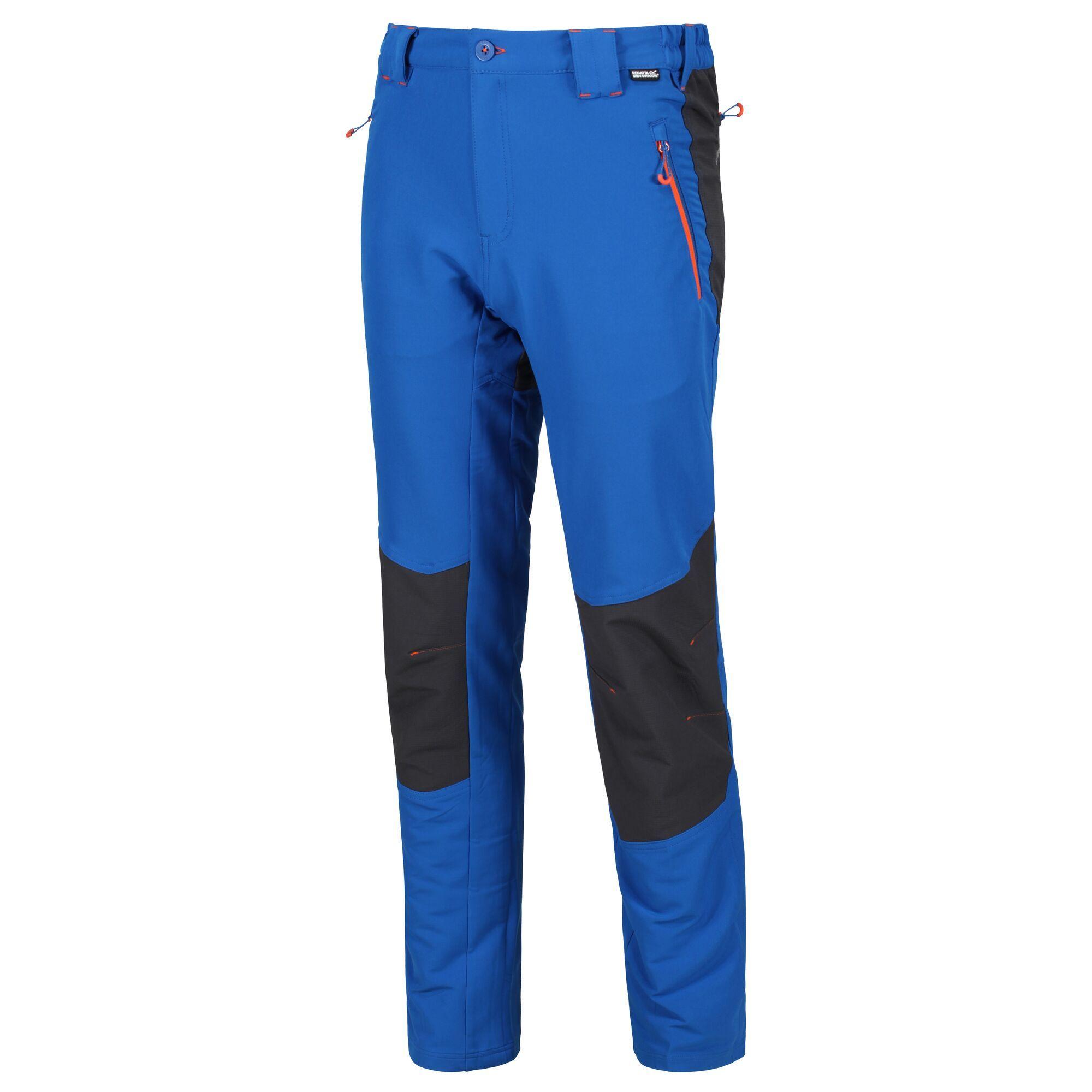 Regatta-Questra-Mens-Ripstop-Knee-Panel-Softshell-Walking-Trousers-RRP-80 thumbnail 5