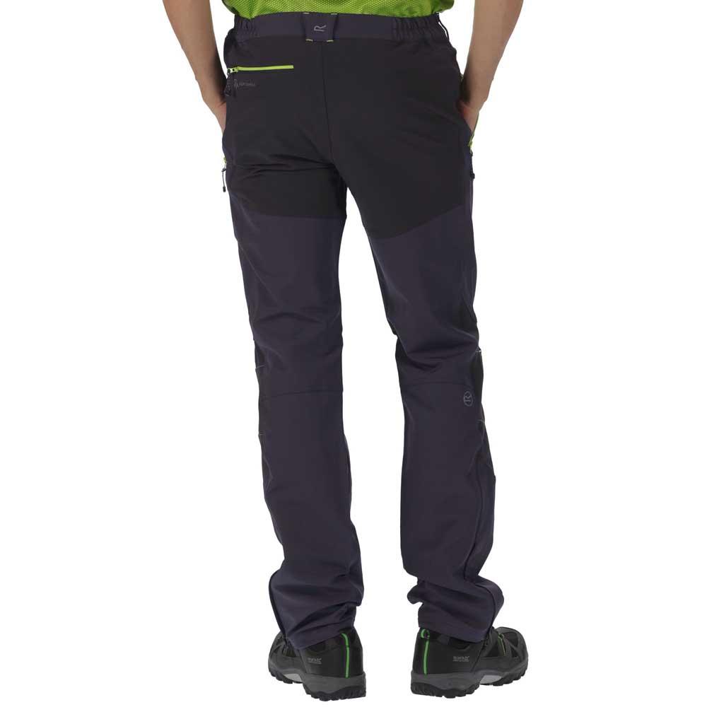 Regatta-Questra-Mens-Ripstop-Knee-Panel-Softshell-Walking-Trousers-RRP-80 thumbnail 8