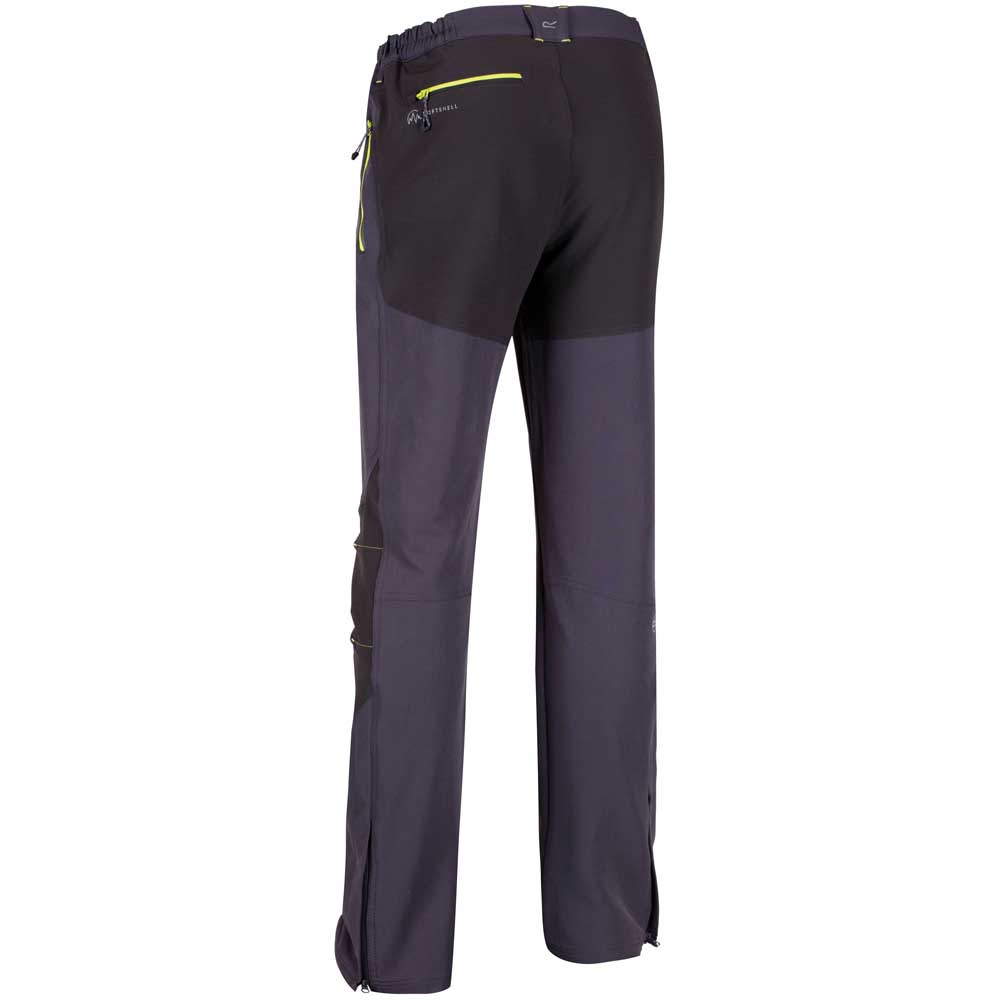 Regatta-Questra-Mens-Ripstop-Knee-Panel-Softshell-Walking-Trousers-RRP-80 thumbnail 10