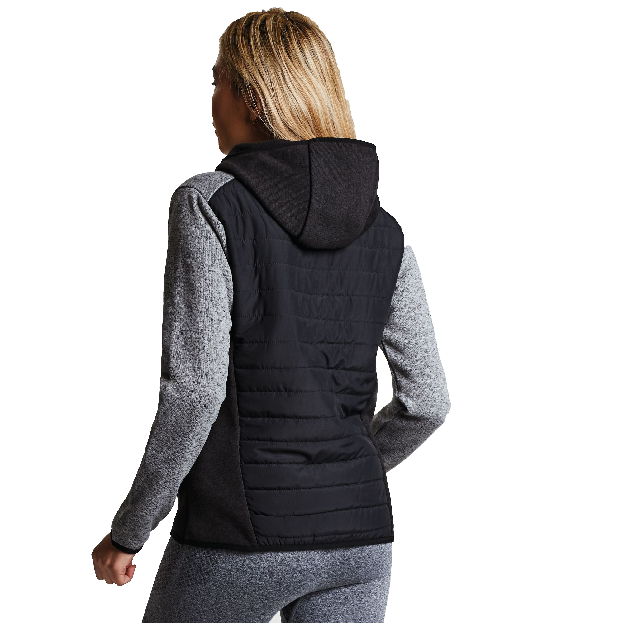 Dare2b-Refinery-Womens-Hybrid-Hooded-Insulated-Water-Repellent-Jacket-RRP-70 thumbnail 9