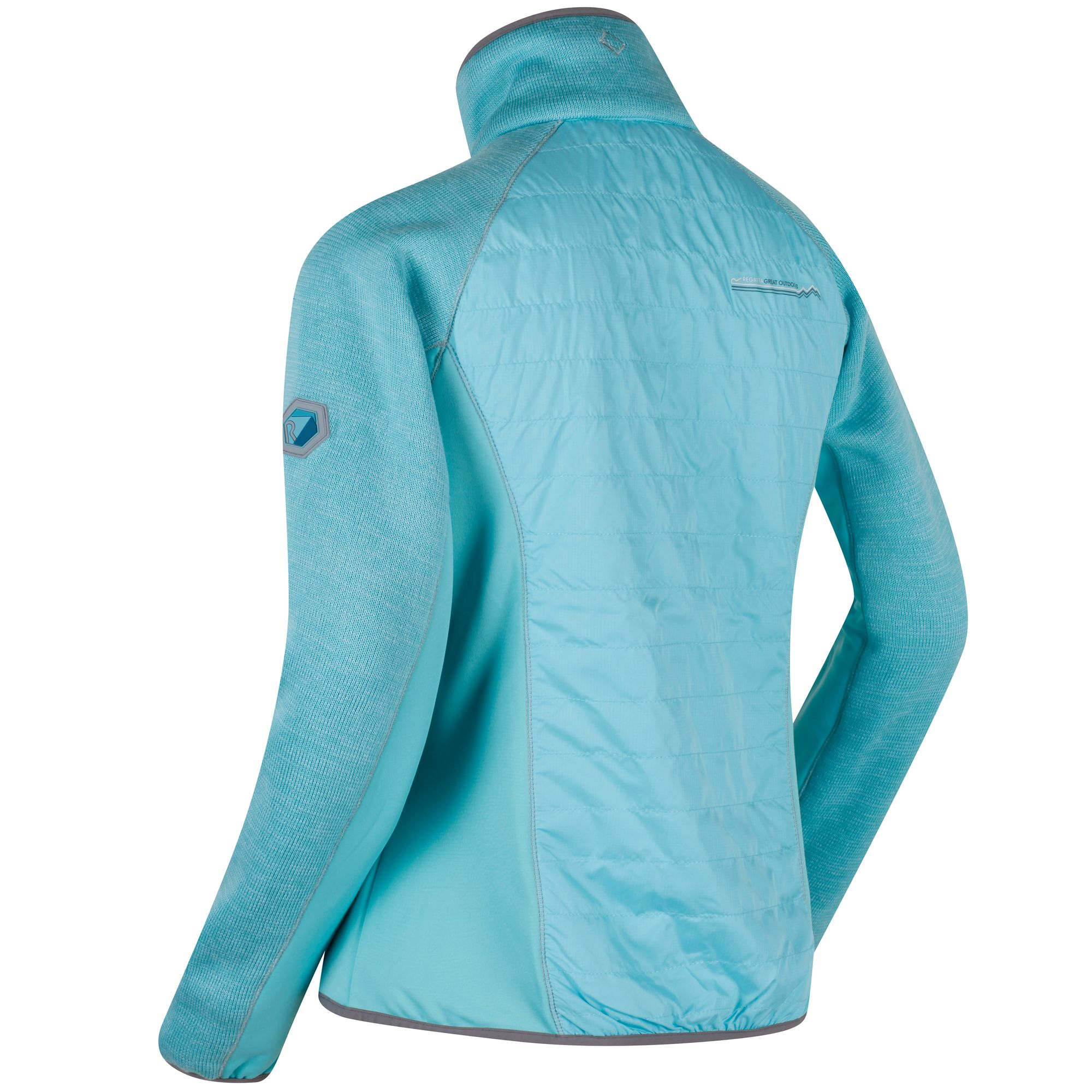 Regatta-Robson-Womens-Knit-Effect-Hybrid-Hiking-Golf-Fleece-Jacket-RRP-70 thumbnail 7
