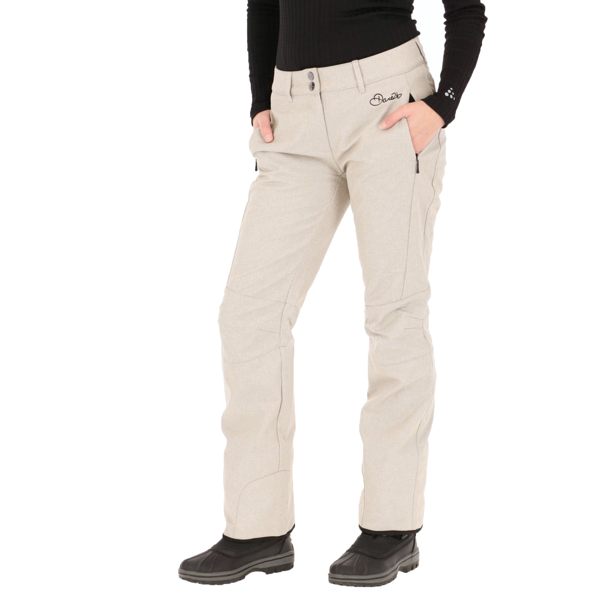 Dare2b-Remark-Womens-Water-Repellent-Breathable-Softshell-Ski-Trousers thumbnail 7