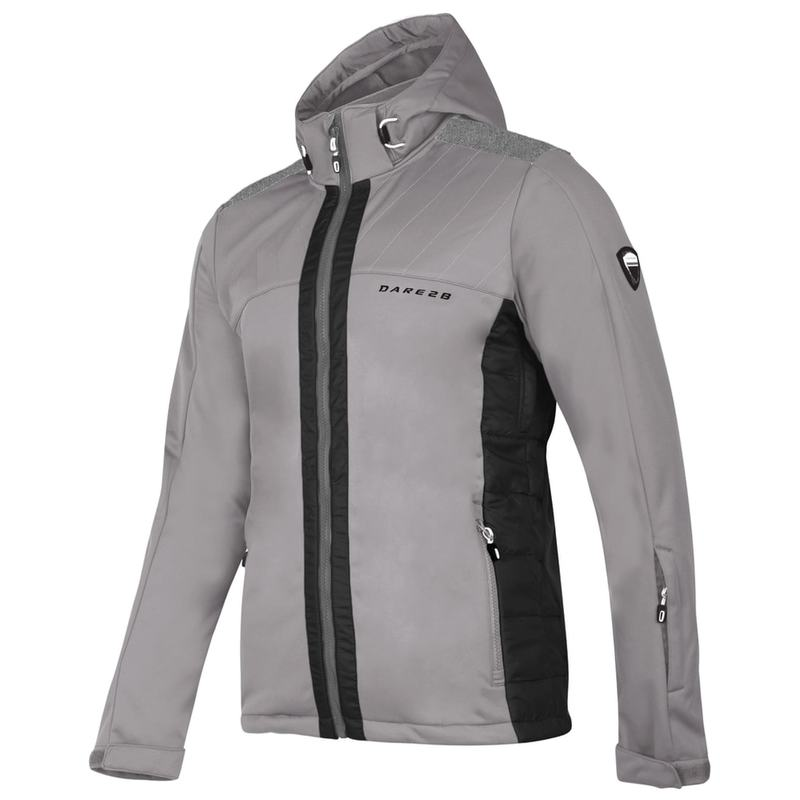 Dare2b-Reprieve-Men-039-s-Water-Repellent-Walking-Hiking-Softshell-Jacket thumbnail 4