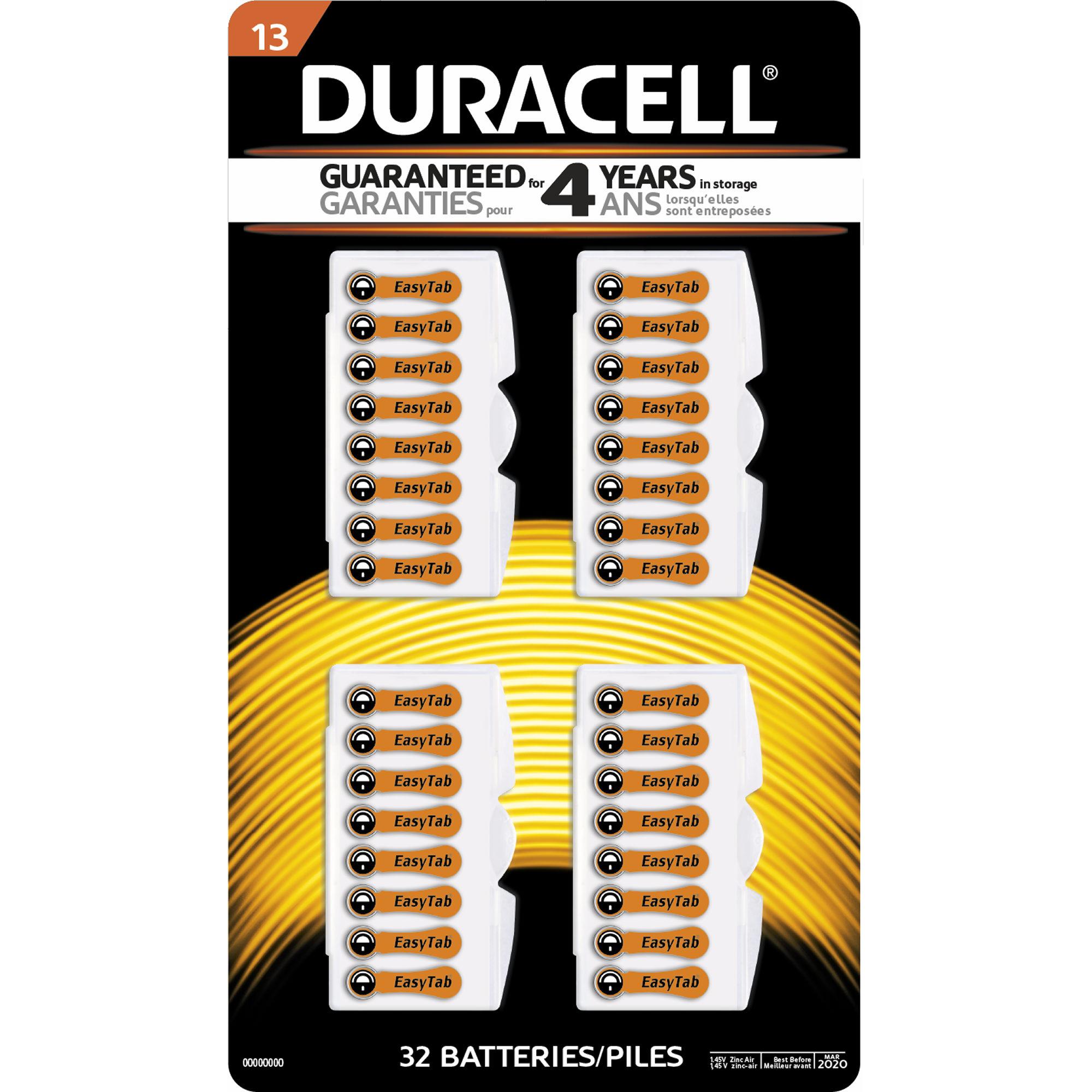 32pk duracell size 13 mercury free zinc air hearing aid battery 32pk duracell size 13 mercury free zinc air hearing aid battery da13b32zm fandeluxe Choice Image