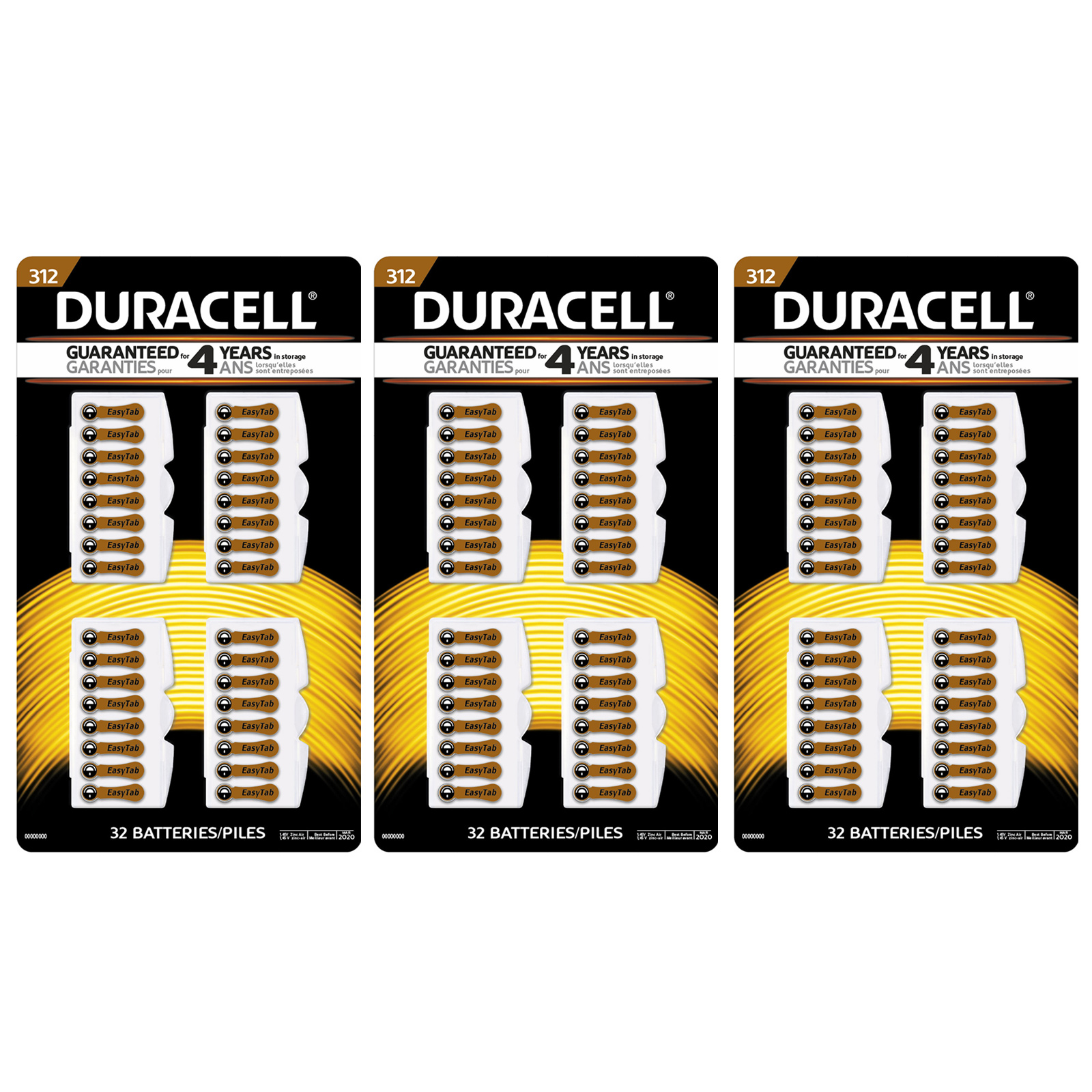 96pc duracell easy tab size 312 hearing aid battery ac312e v312a 96pc duracell easy tab size 312 hearing aid battery ac312e v312a b347pa 312hpx fandeluxe Choice Image