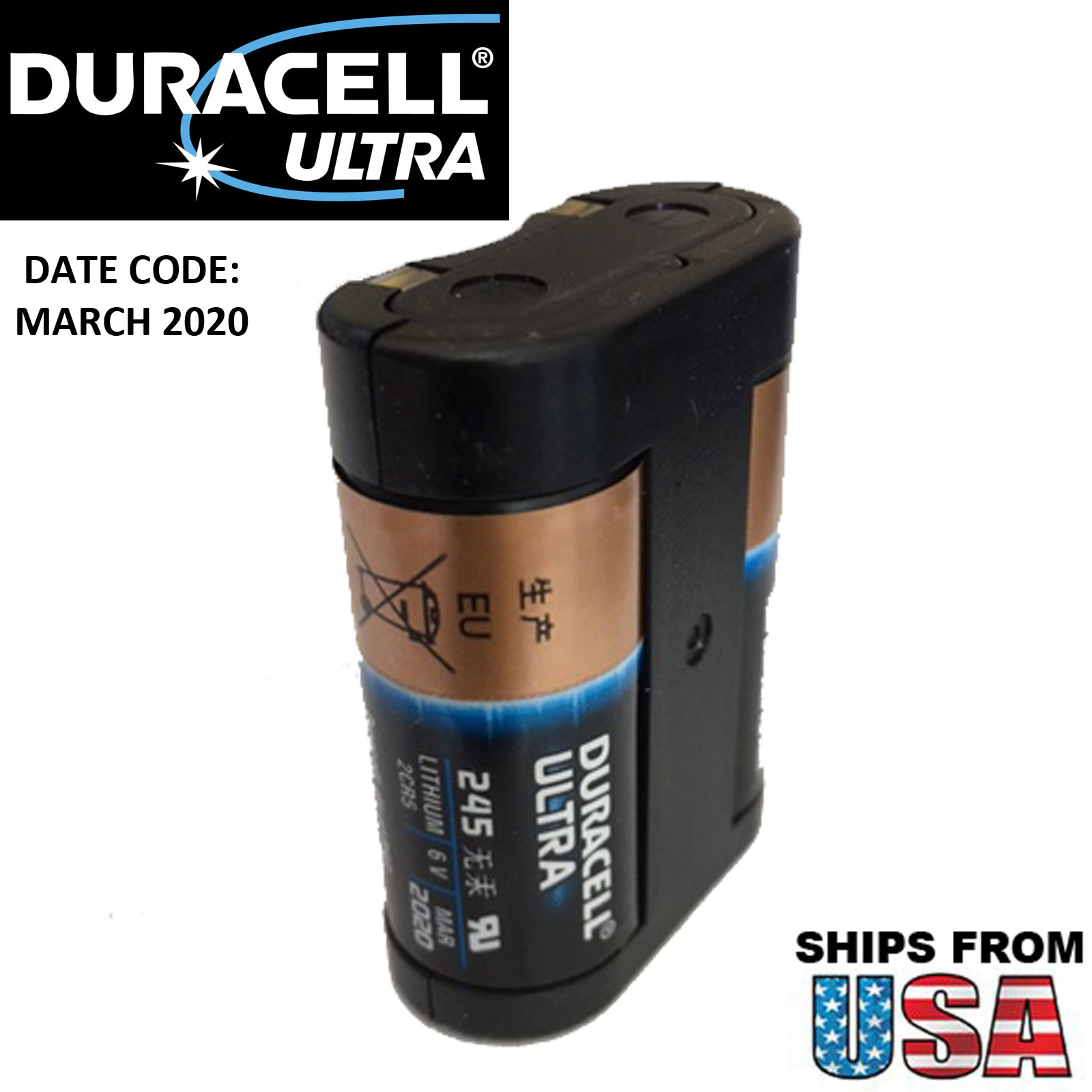 Duracell ultra dl245 photo lithium 6v battery replaces 2cr5 elcr5 duracell ultra dl245 photo lithium 6v battery replaces 2cr5 elcr5 245 2cr5m 2r5 fandeluxe Choice Image