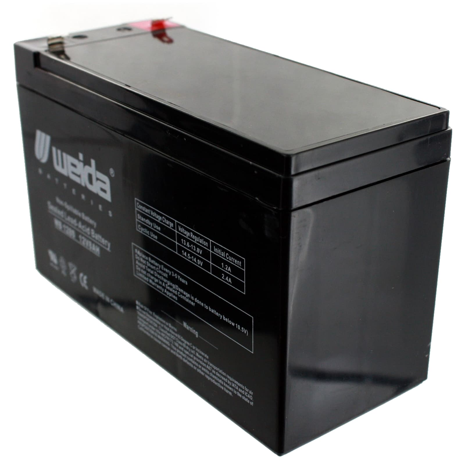 SLA Replacement Battery Set for Alpha Technologies ALI Elite 2000RM 12V 7.2Ah F2 Sealed Lead Acid