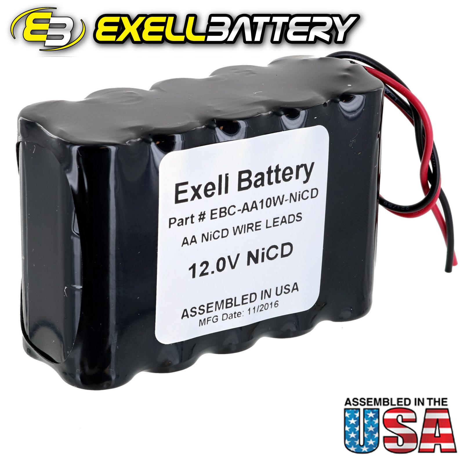 Exell 12V 1000mAh (10xAA) NiCd Battery Pack w/ Wire Leads | eBay