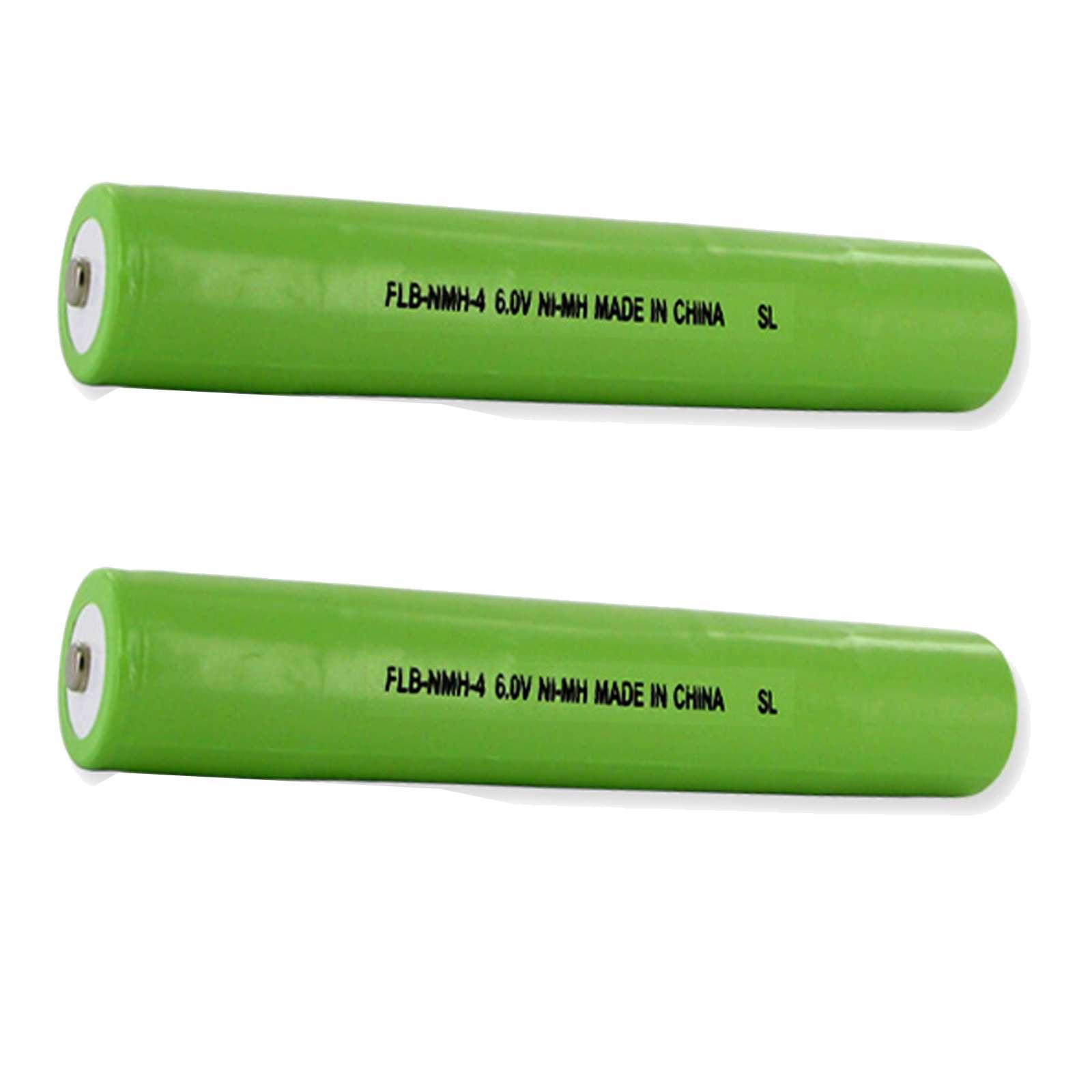 2pc Exell Flashlight Battery 6V 1600mAh NICD Replaces Streamlight 25170