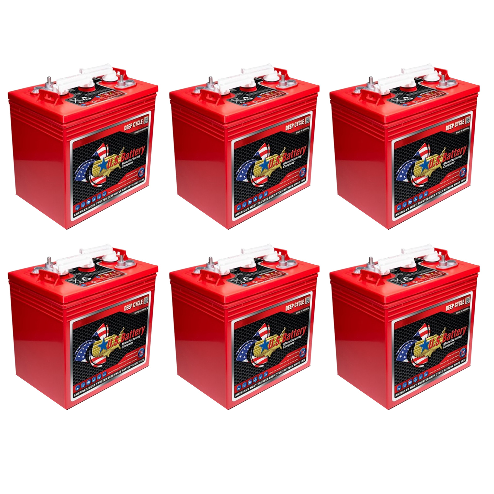6x u s battery us2000 6v 216ah gc2 deep cycle batteries for golf carts ebay. Black Bedroom Furniture Sets. Home Design Ideas