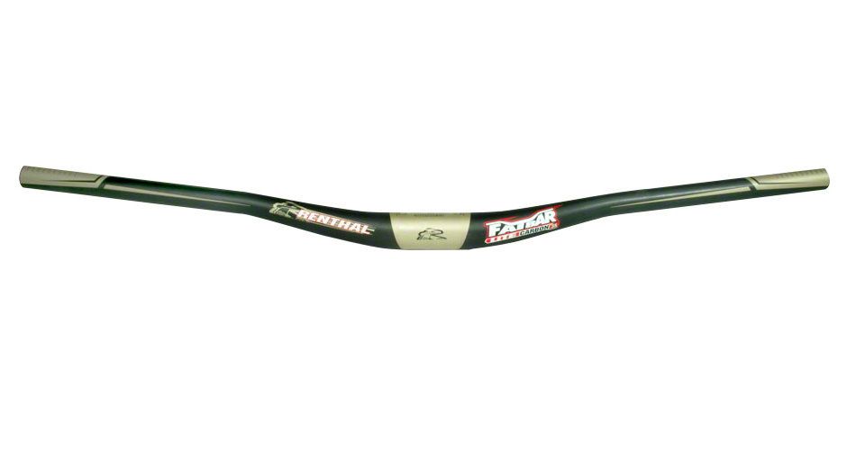 Copieux Renthal Fatbar Lite Carbone Guidon: 10 Mm Rise, 760 Mm Largeur, 35 Mm Collier, Carbone-afficher Le Titre D'origine