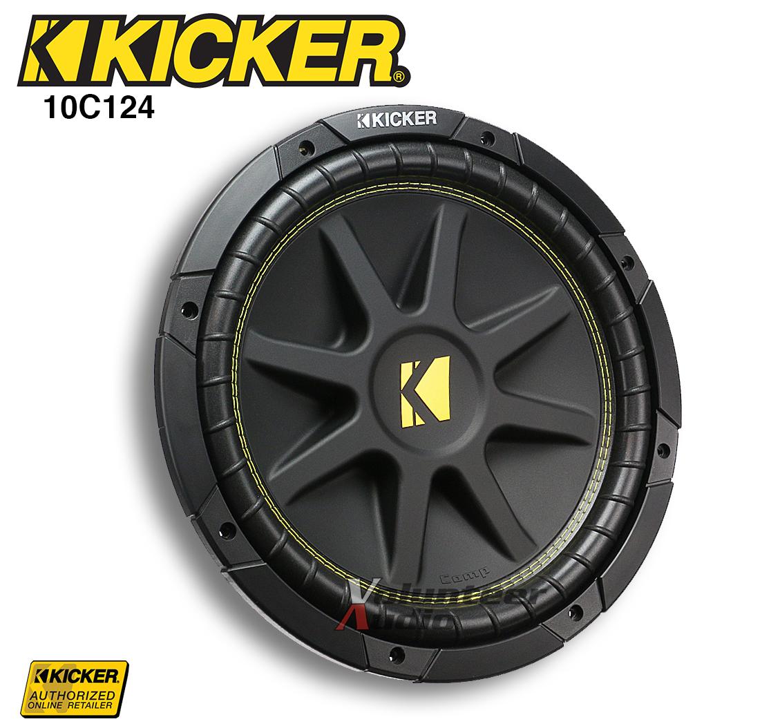 "Kicker 43C124 Classic 12/"" Comp 4 Ohm SVC Subwoofer"