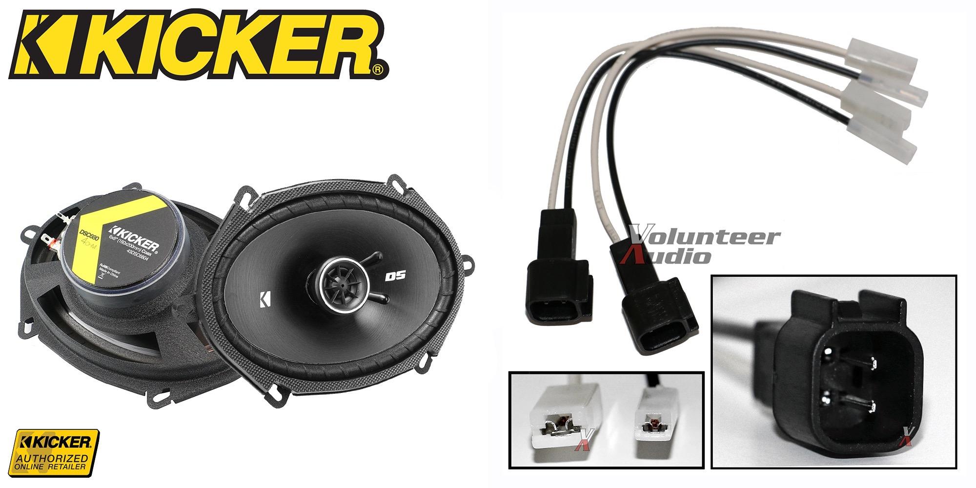kicker dsc680 6 x8 speakers with wiring harness fits ford 1 pair rh ebay com kicker hs8 wiring harness kicker hideaway wiring harness